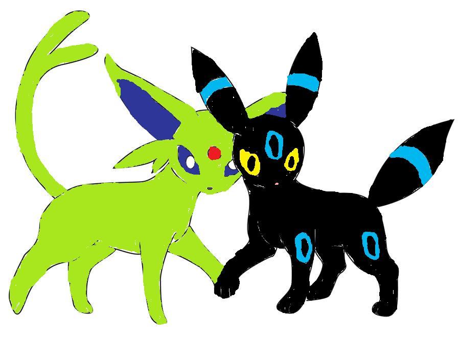 Shiny Espeon and Shiny Umbreon | Route 50